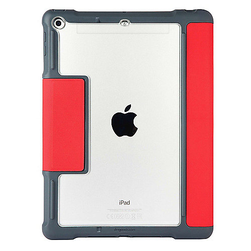 STM Dux Plus Case für Apple iPad 9.7 (2017/2018) rot/transparent