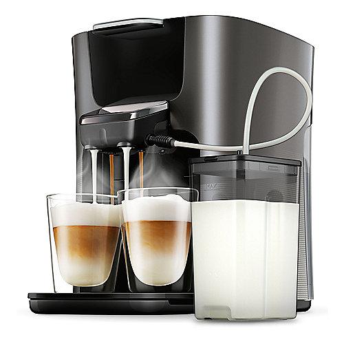 Senseo Latte Duo HD6574/50 Padmaschine mit Aroma-Boost, Schwarz-Grau | 8710103823261