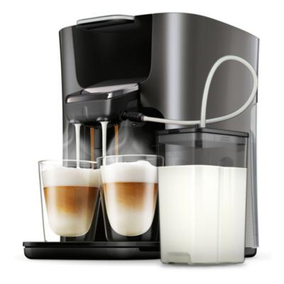 Philips Senseo Latte Duo HD6574/50 Padmaschine mit Aroma-Boost, Schwarz-Grau