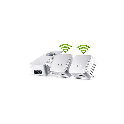 devolo dLAN 550 WiFi Network Kit + Patchkabel CAT6 250 MHz 1m grau | 4250059696242