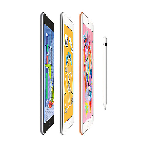 Apple iPad 9,7'' 2018 Wi Fi 128 GB Silber Apple Pencil