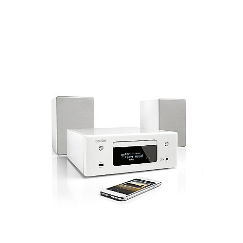 Denon CEOL N10 CD-Kompaktanlage HEOS Multiroom Bluetooth Airplay2 weiß