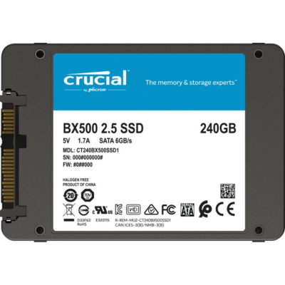 Crucial  BX500 SSD 240GB 2.5zoll Micron 3D NAND SATA600 – 7mm | 0649528787323