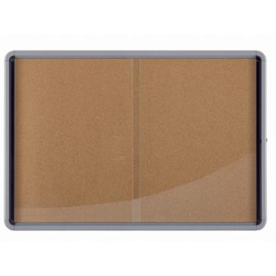 Nobo  Schaukasten für den Innenbereich mit Korkinnenwand und Glastür für 18x A4 | 5028252063746