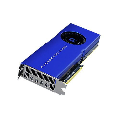 AMD Radeon Pro WX8200 8GB HBM2 PCIe Workstation Grafikkarte 4x mDP