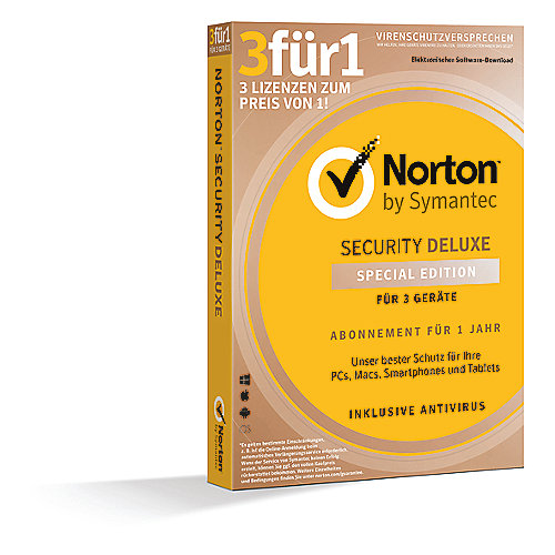 Symantec Norton Security Deluxe 3.0 3 Geräte 1User 1 Jahr CardCase
