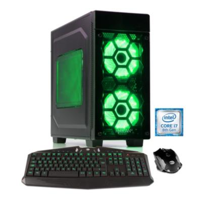 Hyrican  Striker PC green Gaming PC i7-8700 16GB 2TB 500GB SSD RTX 2080Ti Win 10   4045643060581
