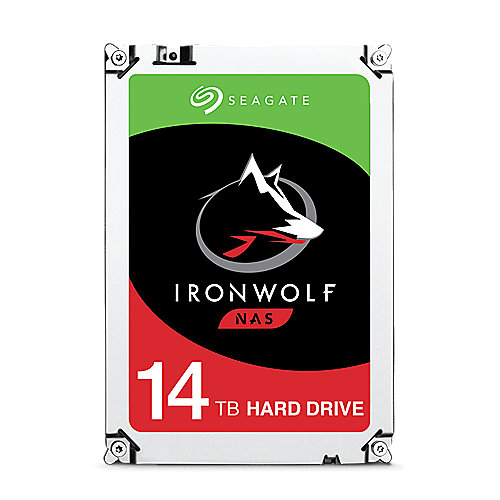 Seagate IronWolf NAS HDD ST14000VN0008 - 14TB 7200rpm 256MB 3.5zoll SATA600