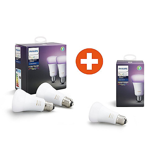 Philips Hue White and Color Ambiance RGBW LED E27 2+1 Erweiterungsbundle