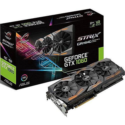Asus GeForce GTX 1060 Strix ROG Advanced 6GB GDDR5 Grafikkarte 2xDP/2xHDMI/DVI | 4718017094979