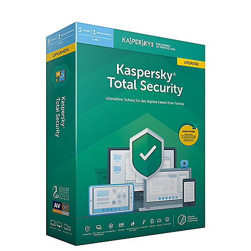 Kaspersky Total Security 2019 Multi-Device Upgrade 3Geräte 1Jahr Minibox