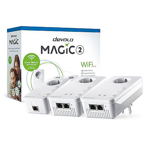 devolo Magic 2 WiFi 2-1-3 MultiroomKit (2xWiFi+1xLAN 2400mbps Powerline Adapter) | 4250059683914