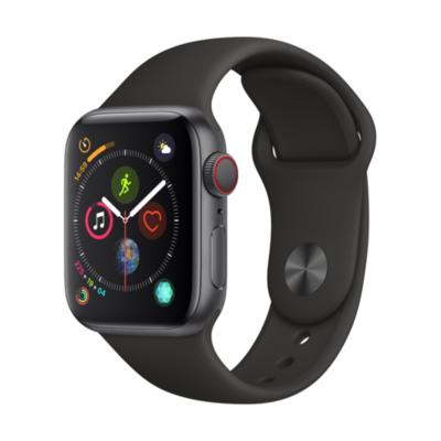 Apple Watch Series 4 LTE 40mm Aluminiumgehäuse Space Grau Sportarmband Schwarz auf Rechnung bestellen
