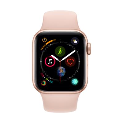 Apple Watch Series 4 LTE 40mm Aluminiumgehäuse Gold mit Sportarmband Sandrosa auf Rechnung bestellen