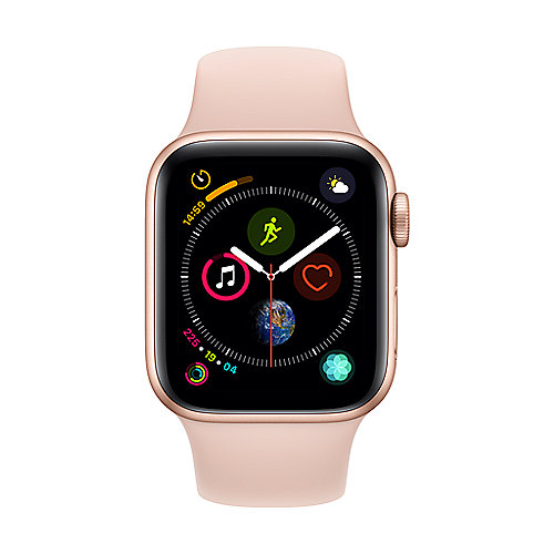 Apple Watch Series 4 LTE 40mm Aluminiumgehäuse Gold mit Sportarmband Sandrosa