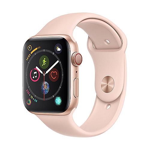 Apple Watch Series 4 LTE 44mm Aluminiumgehäuse Gold mit Sportarmband Sandrosa
