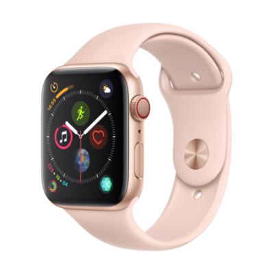 Apple Watch Series 4 LTE 44mm Aluminiumgehäuse Gold mit Sportarmband Sandrosa auf Rechnung bestellen
