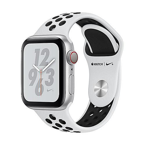 Apple Watch Nike LTE 40mm Aluminiumgehäuse Silber Sportarmband Platinum Schwarz