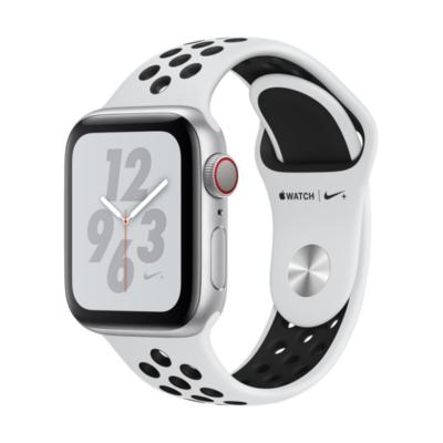 Apple Watch Nike LTE 40mm Aluminiumgehäuse Silber Sportarmband Platinum Schwarz auf Rechnung bestellen