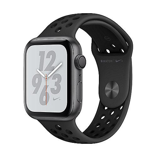 Apple Watch Nike GPS 44mm Aluminiumgehäuse Space Grau Sportarmband Schwarz