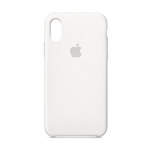 Apple Original iPhone XS Silikon Case-Weiß