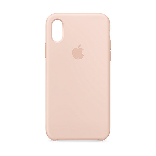 Apple Original iPhone XS Silikon Case-Sandrosa