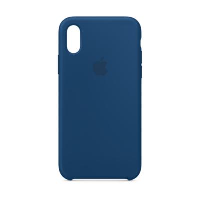 Apple  Original iPhone XS Silikon Case-Horizontblau | 0190198802866