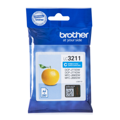 Brother  LC-3211C Original Druckerpatrone Cyan | 4977766775755