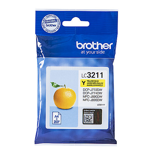 Brother LC-3211Y Original Druckerpatrone Gelb