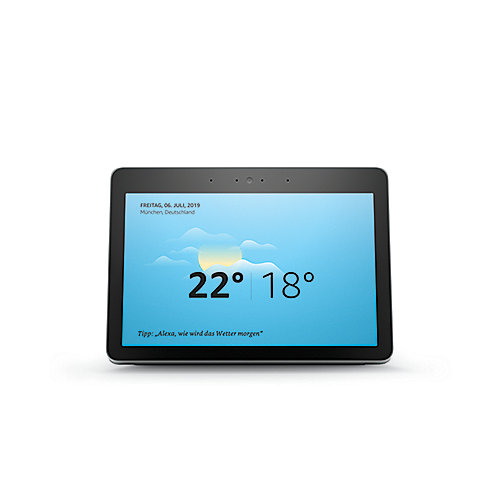 Amazon Echo Show (weiß) Premiumlautsprecher mit brilliantem 10-Zoll-HD-Display