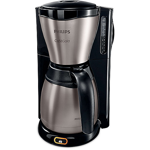 Gaia Collection HD7548/20 Kaffeemaschine Thermokanne, schwarz/Edelstahl | 8710103879978
