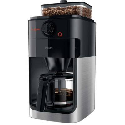Philips  HD7767/00 Grind and Brew Kaffeemaschine mit Mahlwerk Schwarz Metall | 8710103861911