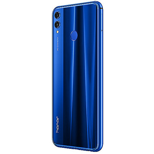 Honor 8X blue Android 8.1 Smartphone mit Dual-Kamera