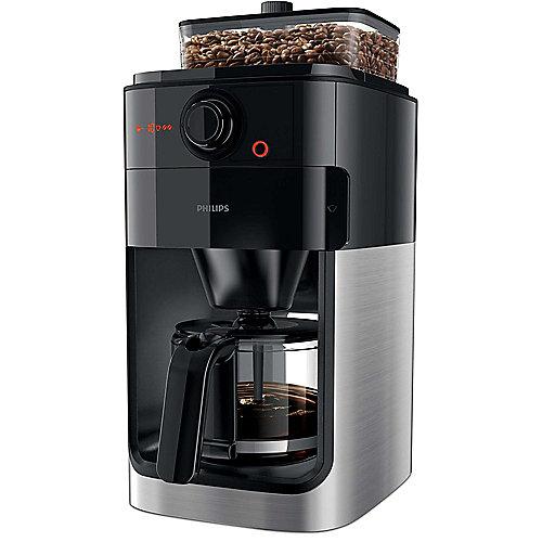 Philips HD7769/00 Grind and Brew Kaffeemaschine Timer Mahlwerk Schwarz Metall   8710103873396