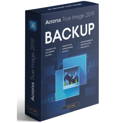 Acronis  True Image 2019 5 PC MiniBox   4260019575562