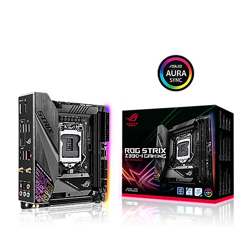ASUS ROG STRIX Z390-I GAMING ITX Mainboard Sockel 1151 DP/HDMI/M.2/USB3.1/WIFI