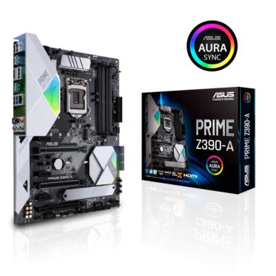 Asus  PRIME Z390-A ATX Mainboard Sockel 1151 DP/HDMI/2xM.2/USB3.1 | 4718017129695