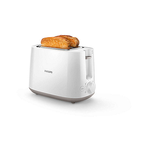 Philips HD2581/00 Daily Collection Toaster weiß Brötchenaufsatz