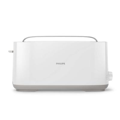 Philips  HD2590/00 Daily Collection Langschlitz-Toaster weiß Brötchenaufsatz | 8710103821014