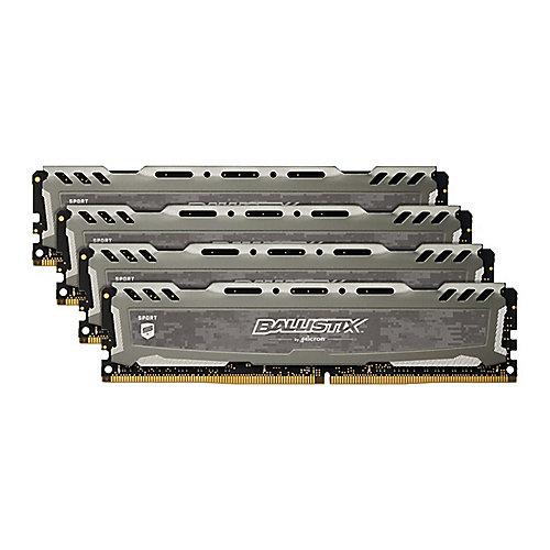32GB (4x8GB) Ballistix Sport LT Grau DDR4-3000 CL16 (16-18-18) RAM Speicher Kit | 0649528784698