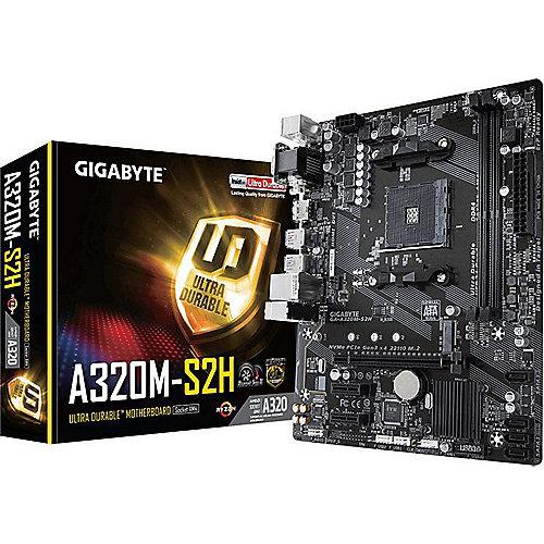 GA-A320M-S2H mATX Mainboard Sockel AM4 GL/HDMI/DVI/VGA/M.2 | 4719331802530
