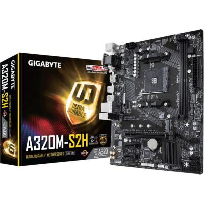 Gigabyte  GA-A320M-S2H mATX Mainboard Sockel AM4 GL/HDMI/DVI/VGA/M.2 | 4719331802585
