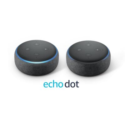 Amazon  Echo Dot (3. Generation) – Doppelpack – Anthrazit Stoff | 0841667162201