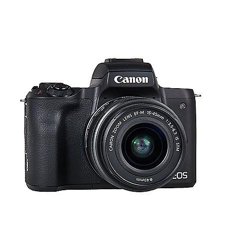 AKTION: Canon EOS M50 Gehäuse Systemkamera schwarz Kit + zusätzlicher Akku