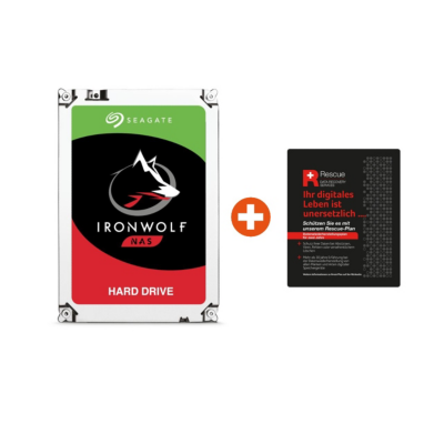 Seagate  IronWolf NAS HDD ST2000VN004 – 2TB 3.5zoll SATA600 + 2 Jahre Rescue | 8592978061562