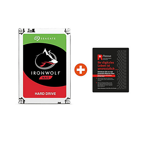 Seagate IronWolf NAS HDD ST1000VN002 - 1TB 3.5zoll SATA600 + 2 Jahre Rescue