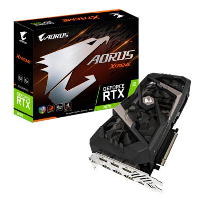Gigabyte  Aorus GeForce RTX 2070 Extreme 8GB GDDR6 Grafikkarte 3xHDMI/3xDP/USB-C | 4719331303747