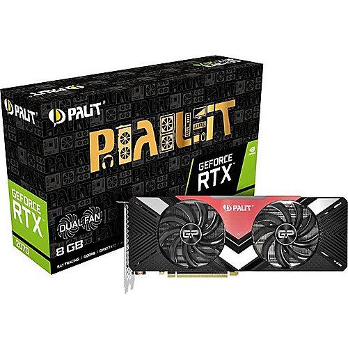 GeForce RTX 2070 Dual 8GB GDDR6 Grafikkarte 3xDP/HDMI/USB-C | 4710636270291