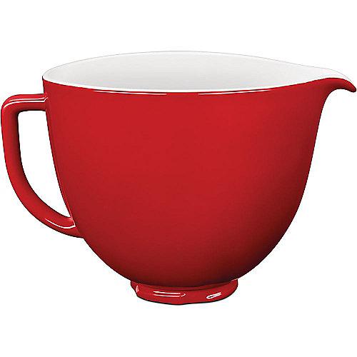 KitchenAid 5KSM2CB5ER Keramikschüssel 4,7L rot/weiß | 5413184121716