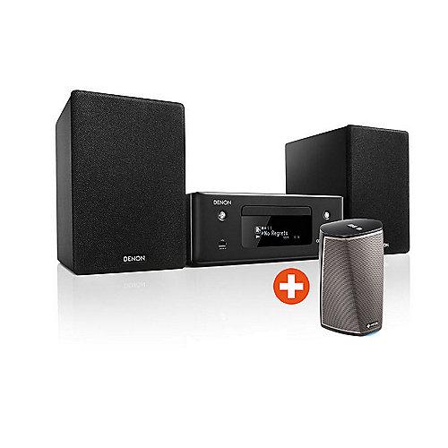 Set:  CEOL N10 CD-Kompaktanlage HEOS + HEOS 1 HS2, Schwarz   4951035066591